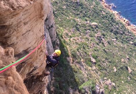 Escalade en grande voie Calanques Cassis Marseille