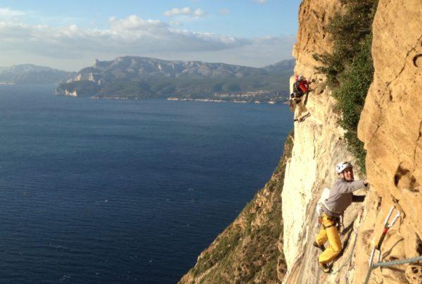 Grande voie au Cap Canaille - Cassis - Marseille